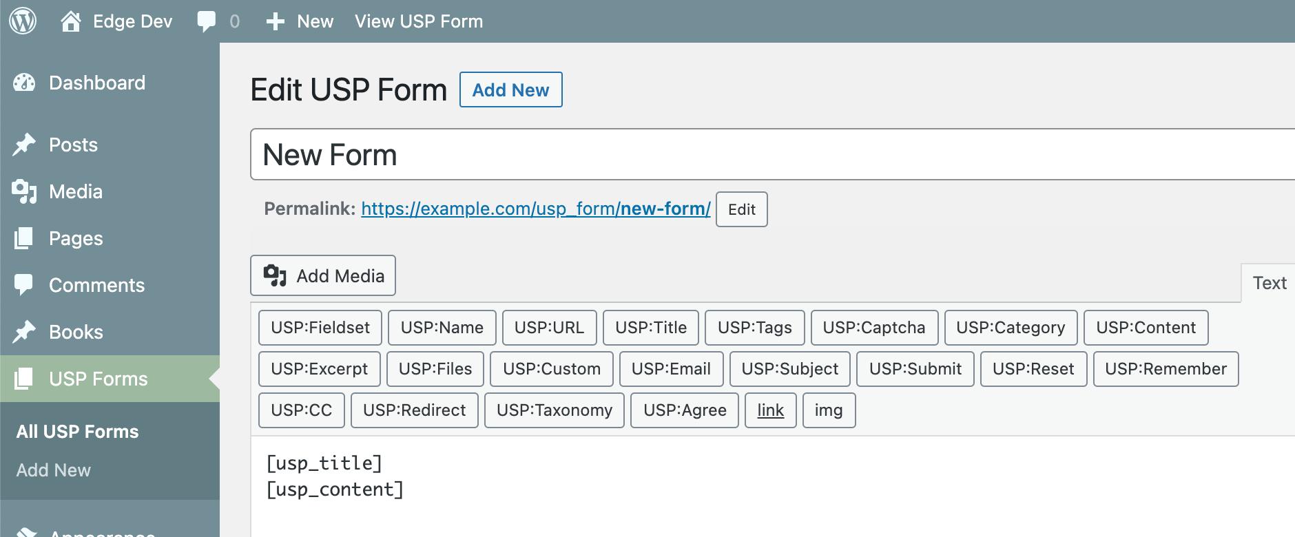 USP Pro Form Builder