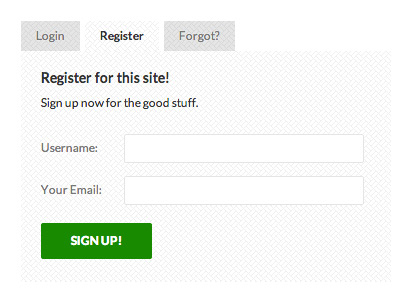 USP Pro - Register Form