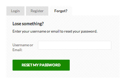 USP Pro - Reset Password Form