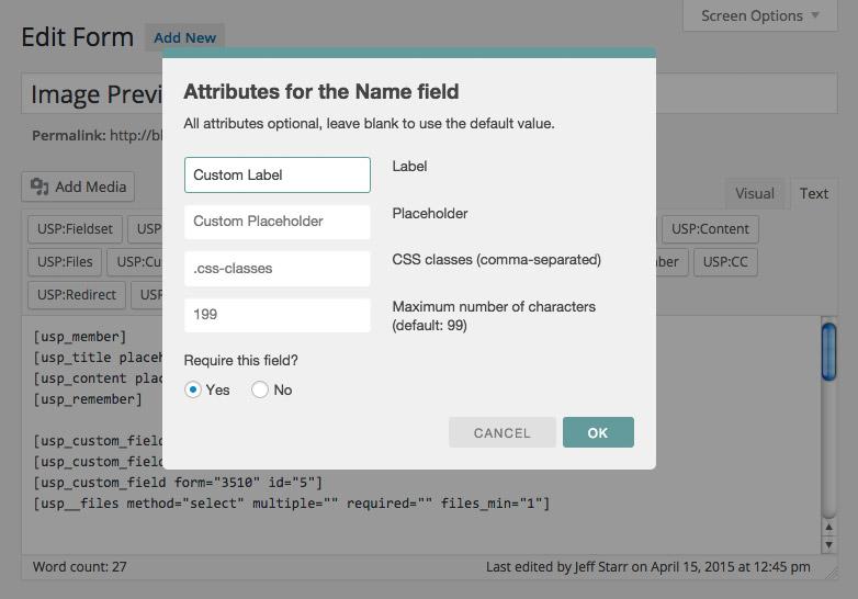 USP Pro - New Quicktag UI