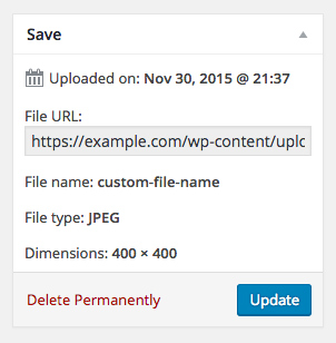 USP Pro - Custom Metadata for File Name
