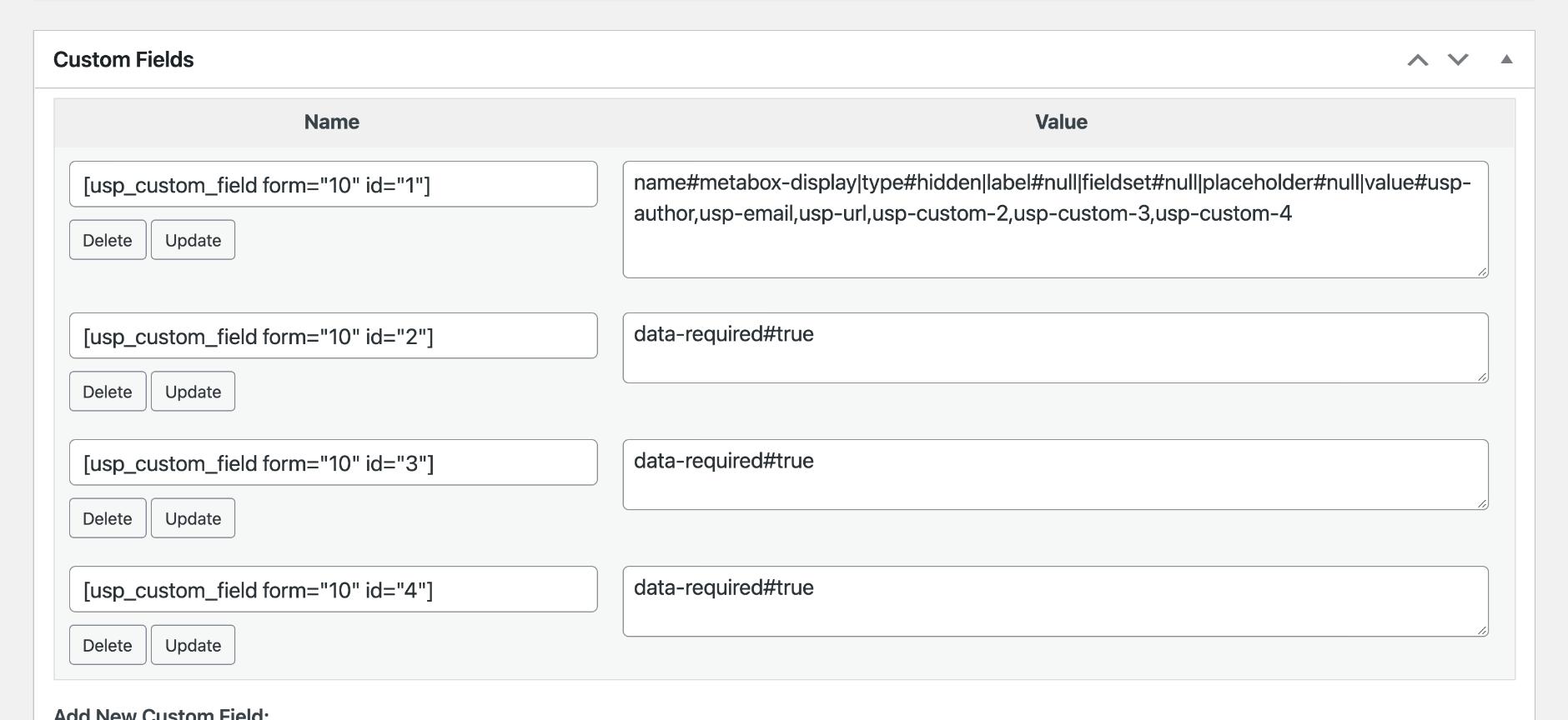 USP Pro - Meta Box Custom Field