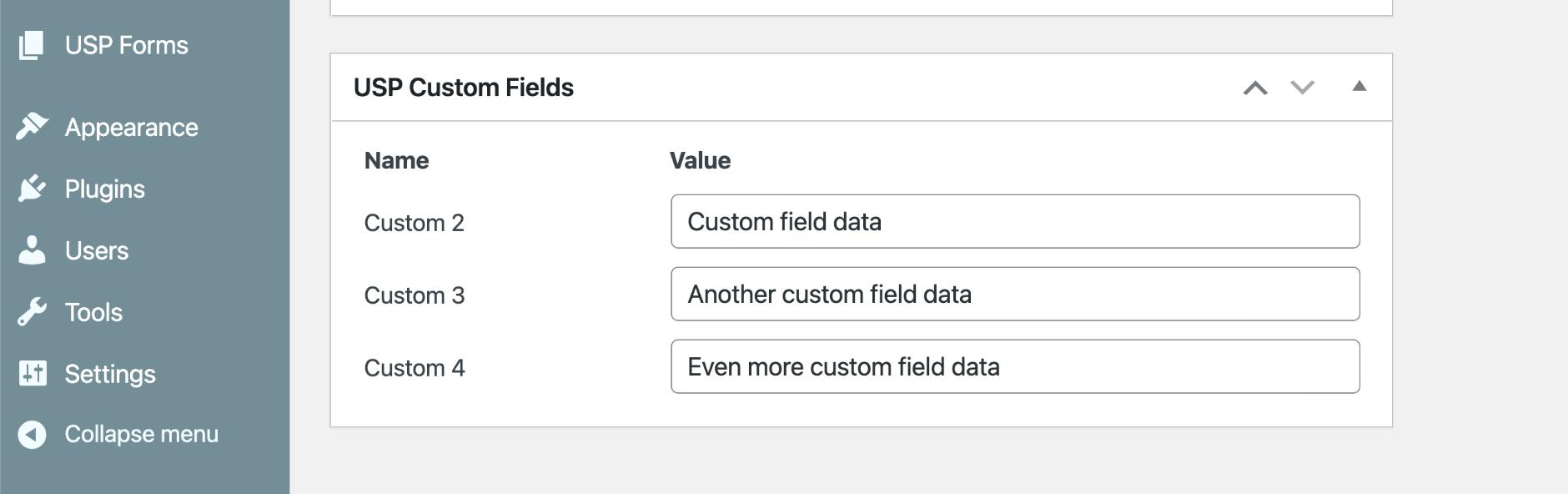 USP Pro - Meta Box UI for Custom Fields