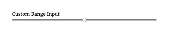 USP Pro - Custom Range Input