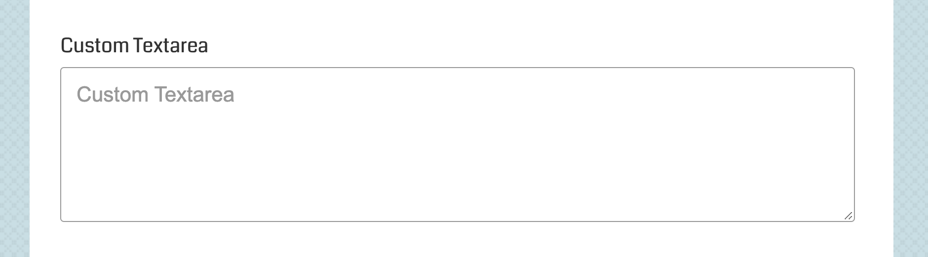 USP Pro - Custom Textarea