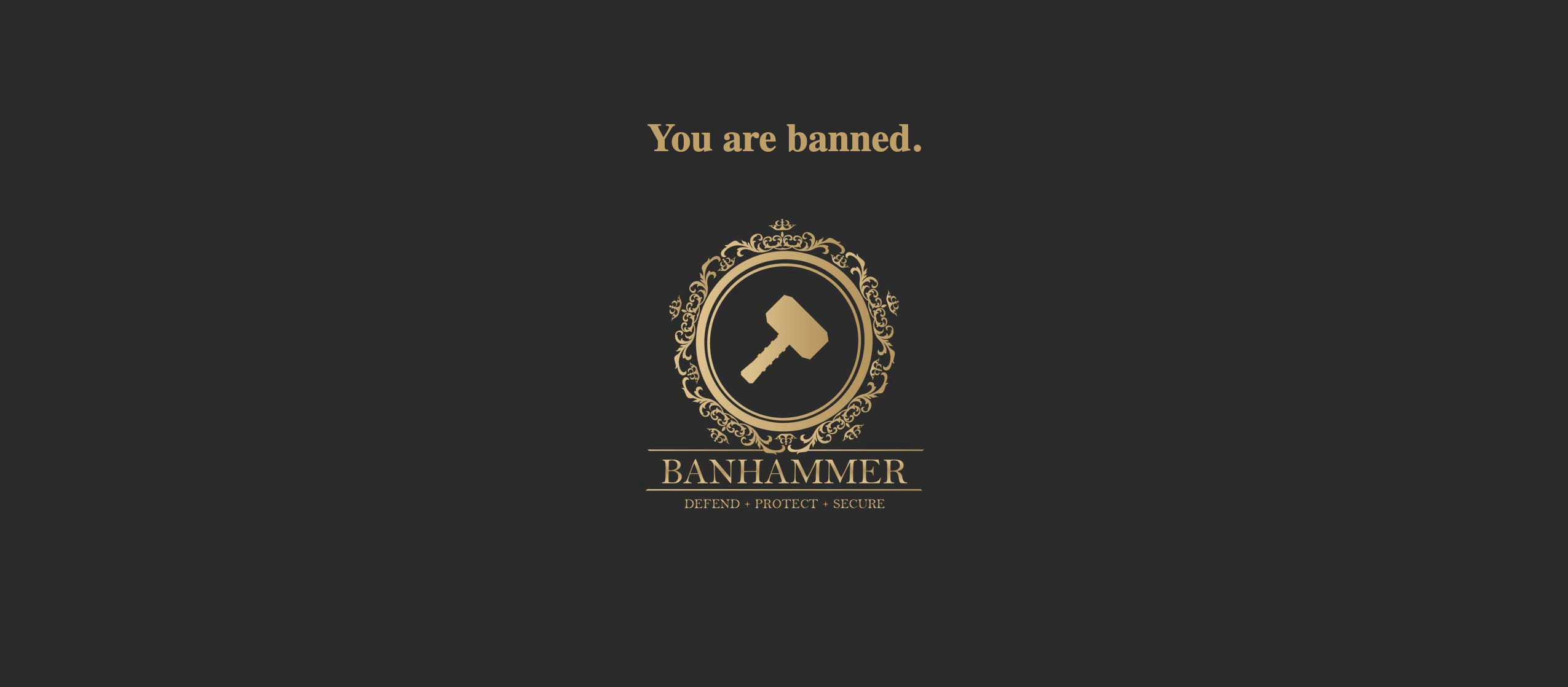 Banhammer Pro - Default Banned Message