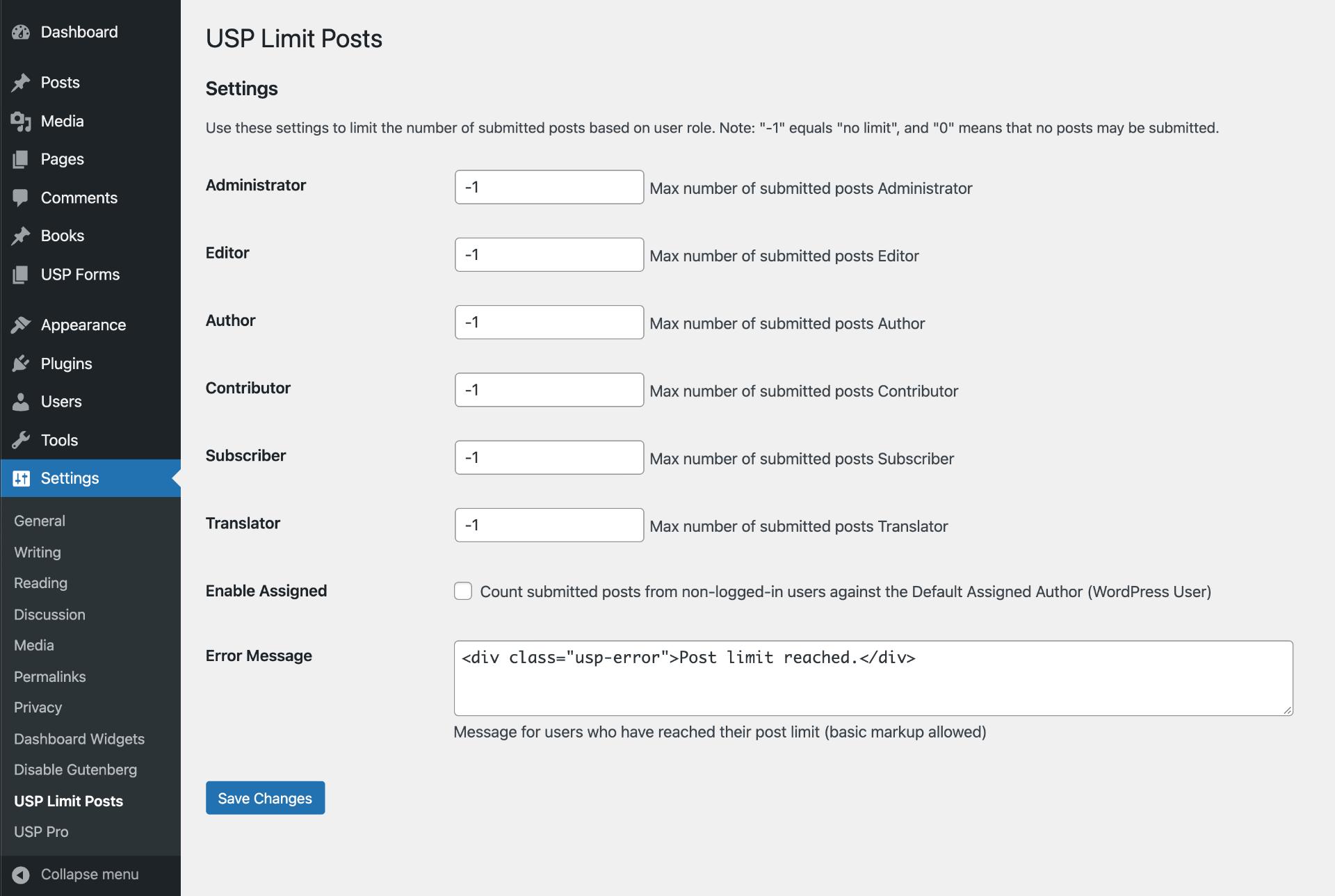 USP Pro Extension: Limit Posts