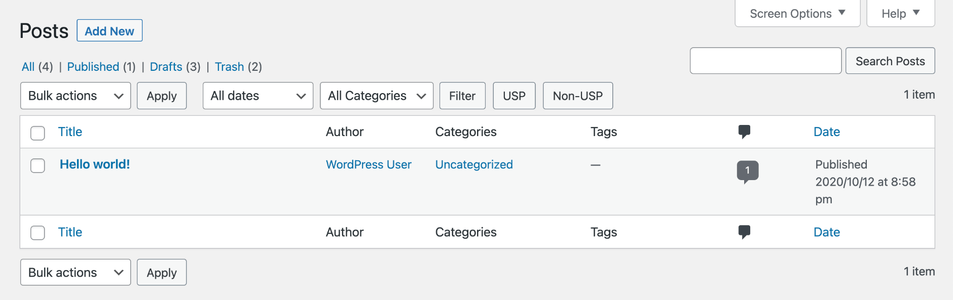 USP Pro - Filter Non-Submitted Posts
